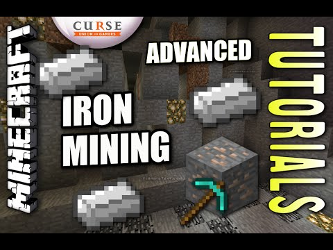 Minecraft PS4 - IRON MINING - ADVANCED - How To - Tutorial ( PS3 / XBOX )