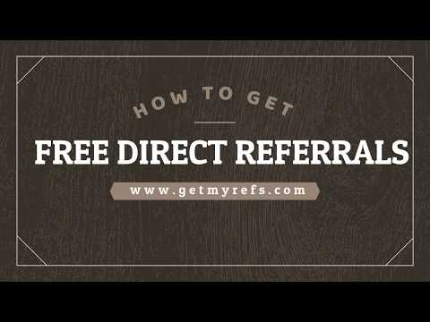 How to get direct free referrals with GetMyRefs