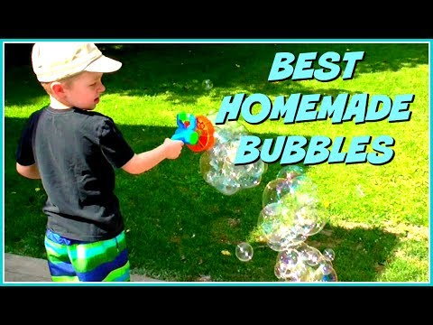 The Best Homemade Bubble Solution - DIY Bubbles