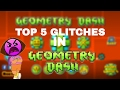 TOP 5 GLITCHES/BUGS IN GEOMETRY DASH 2.1