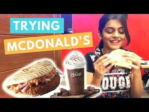 Trying out McDonald's New Menu   #DhwanisDiary