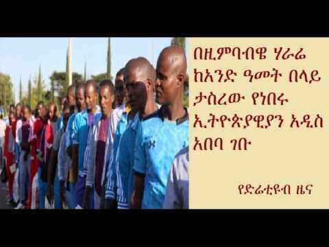 DireTube News - Ethiopian nationals return home from Zimbabwe