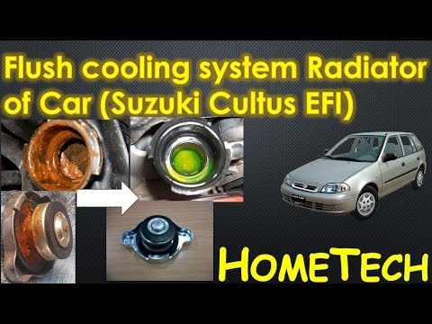How to FLUSH Cars Cooling System Radiator flush with citric acid & hose pipe DIY Suzuki Cultus