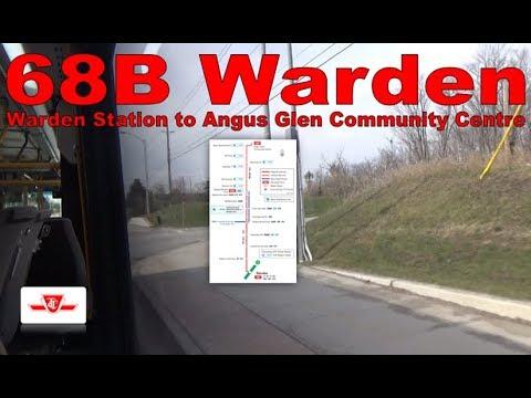 68B Warden - TTC 2017 Nova Bus LFS 8730 (Warden Station to Angus Glen Community Centre)