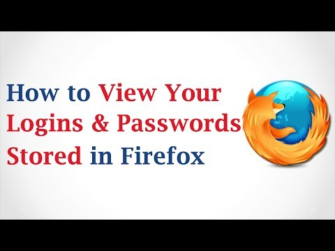 How to View Your Logins and Passwords Stored in Mozilla Firefox