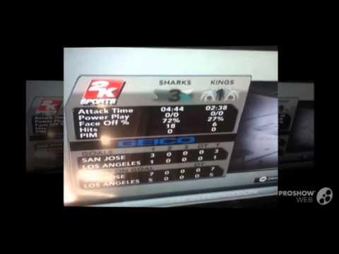 NHL2K11 Sharks vs Kings