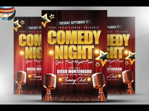 Beautiful Flyer Design for Comedy Night using Corel Draw