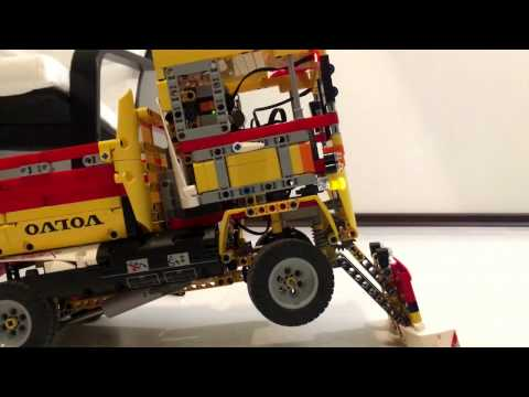 Lego Technic custom truck with snowplow