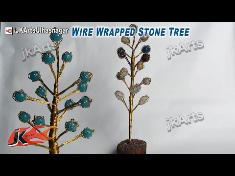 DIY Wire Wrapped Stone Tree | How to make | JK Arts 436