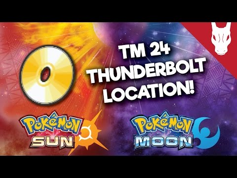 Where to Find TM 24 Thunderbolt in Pokemon Sun and Moon