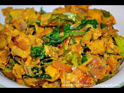 Andhra Style Raw Banana Coconut Fry - Aratikaya Kobbari Vepudu w/ English Subtitles