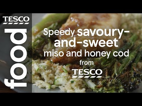 Speedy savoury-and-sweet miso and honey cod | Tesco Food