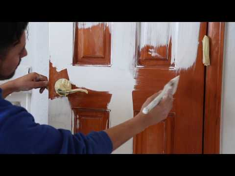 How to Paint a Stained Door - Peak Pro Painting - Denver, Colorado
