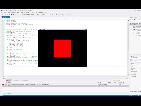 How to Set up OpenGL and GLUT in Visual Studio (C++)