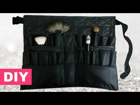 DIY cinturón manta para brochas / Professional brush belt $4 maquillaje