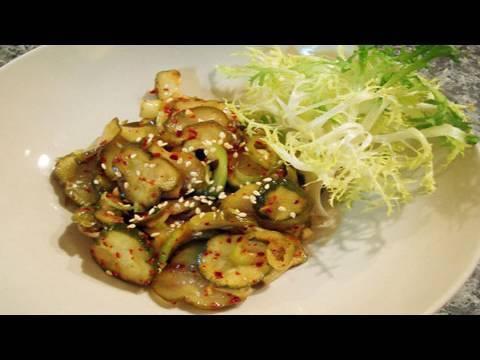 Korean-style Cucumber Pickles (oijangajji:오이장아찌)