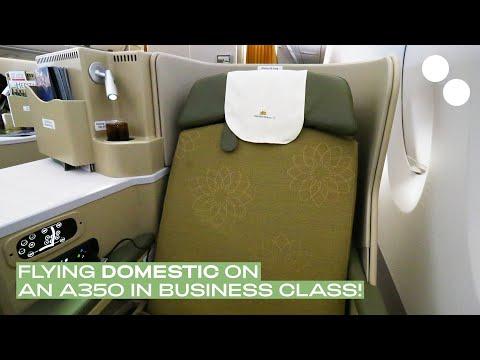 VIETNAM AIRLINES A350-900 BUSINESS CLASS VN238 SGN-HAN