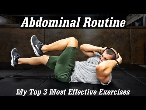 ABS Routine | HOW DO I GET A 6 PACK? | My Top 3 Exercises