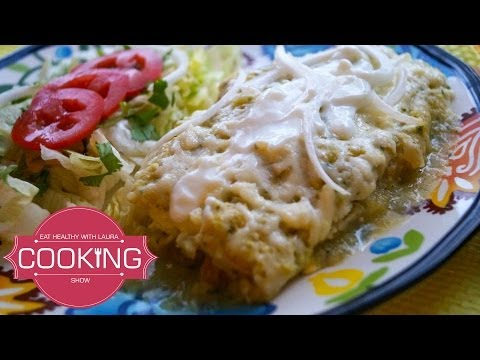 How to make Chicken Enchiladas with Green Sauce ♥ Enchiladas Suizas Recipe ♥ Mexican Enchiladas