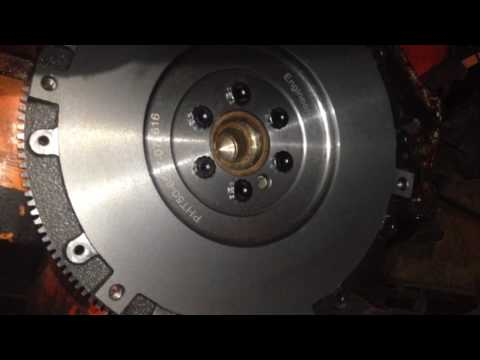Installing the Flywheel, Pilot Bushing, Clutch, and Pressure Plate on Small Block Chevy