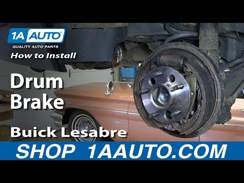 How To Install Do a Rear Drum Brake Job 1993-99 Buick Lesabre