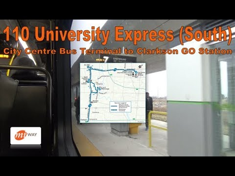 110 University Express (South) - MiWay 2010 New Flyer D60LFR 1064 (City Centre  to Clarkson Stn)