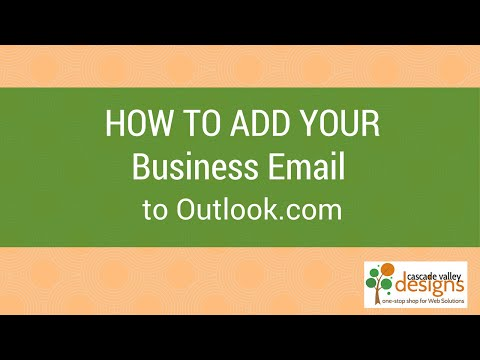 How to add domain email to Outlook.com