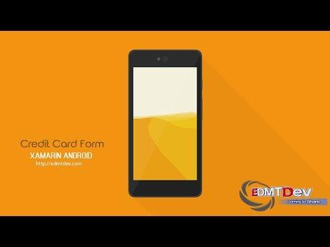 Xamarin Android Tutorial - Credit Card Form