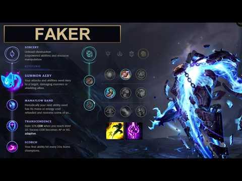 SKT Faker Build Xerath - New Runes Season 8 solo vs Azir (League of Legends Guide)