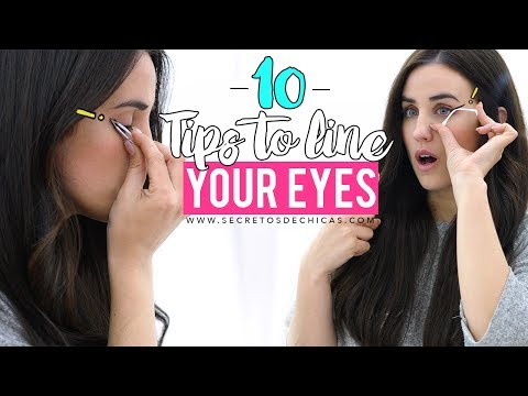 10 TRICKS TO LINE YOUR EYES | EYELINER HACKS