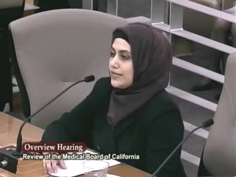 Please restore Rights of Physicians - Dr Sheikh at California Senate