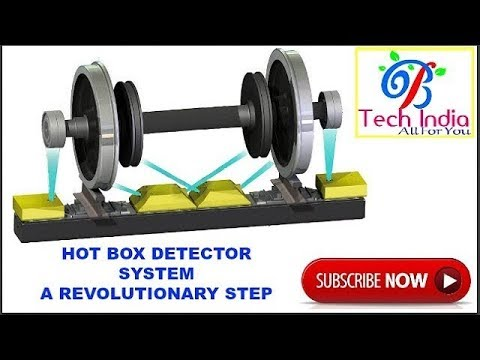 Hot axle hot wheel detector system or hot box detector system in indian railway hbd