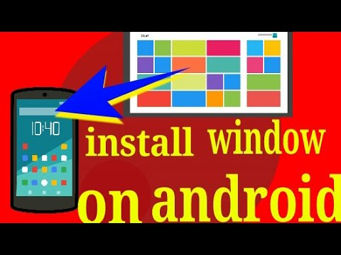 How to install windows on android ( Hindi ) window 10/8/95