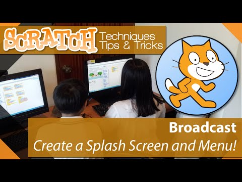 Scratch - Tutorial 07 - Create a Game Menu and Splash screen using Broadcast
