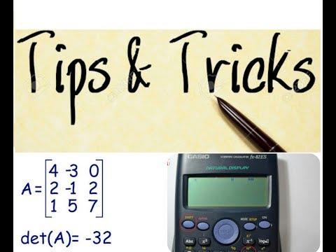 Find Determinant Of Any Matrix order(n*n) using casio fx 991MS [SQUARE MATRIX]