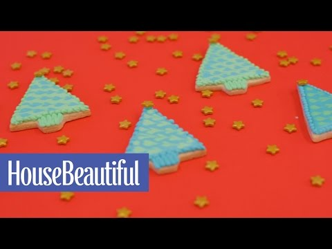 How to Make Frosted Christmas Tree Cookies | House Beautiful