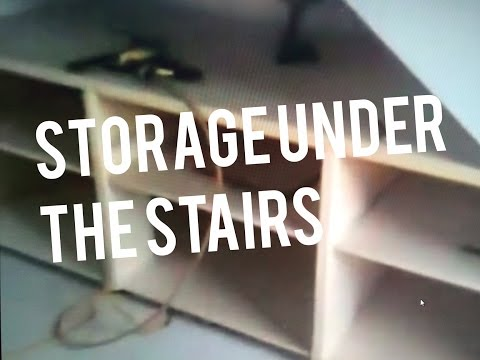 Build Cabinet Drawer Boxes Base under Stairs Storage, Shoes,  Shelving