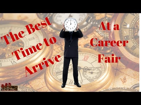 Job Search: The Best Time to Arrive at a Career Fair