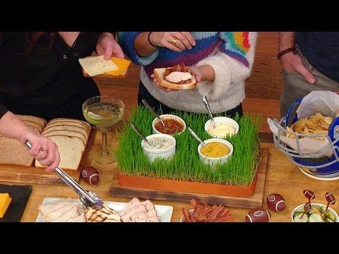 A Make-Your-Own Football Party Sandwich Bar