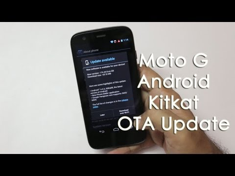 Moto G Smartphone 4.4.2 Android Kitkat OTA Update