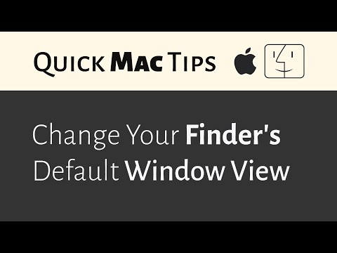 Mac: Change Finder's Default Window View (2016)