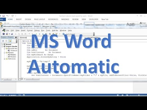 How to create MS Word document automatically  - Insert file content to word document