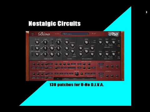 130 Presets, Patches for U-He Diva VST Synth (80s, Synthwave, Funk, Pop, rock, etc)
