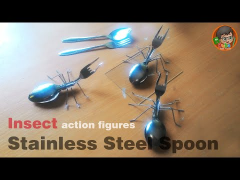 How to Make Insect made from Stainless Steel Spoon - for Adult and Kids