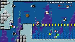 3-6:The Ruins of Torpedo Trench by Myuu - Super Mario Maker - No Commentary