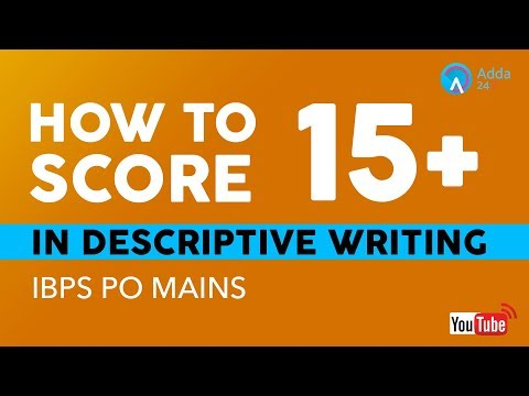 How To Score 15+ In Descriptive Writing | IBPS PO MAINS