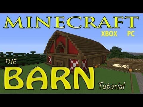 Minecraft EASY BARN Tutorial with SCHEMATICS !!