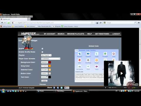 Tumblr - How to Add a SMALL Music Playlist (Hypster) [Tutorial]