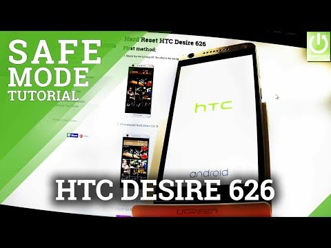 How to Enter Safe Mode on HTC Desire 626 - Open / Quit Safe Mode