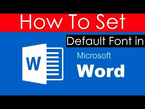 How to set default Font in Word 2016